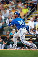 Toronto Blue Jays shortstop Richard Urena (78) at bat during a Spring Training game against the Pittsburgh Pirates on March 3, 2016 at McKechnie Field in Bradenton, Florida.  Toronto defeated Pittsburgh 10-8.  (Mike Janes/Four Seam Images)