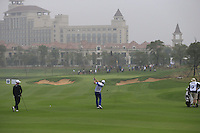 Jamie Donaldson (WAL) plays his 2nd shot on the 5th hole during Saturay's Round 3 of the 2014 BMW Masters held at Lake Malaren, Shanghai, China. 1st November 2014.<br /> Picture: Eoin Clarke www.golffile.ie