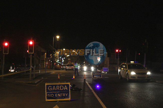 Scene in Slane where a man was fatally injured when he was hit by a truck earlier today...Photo NEWSFILE/Jenny Matthews..(Photo credit should read Jenny Matthews/NEWSFILE)