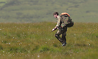 COPY BY TOM BEDFORD<br /> Pictured: Soldiers exercise in the Brecon Beacons, Wales, UK<br /> Re: Sunshine and high temperatures are due to affect most of the UK this week.