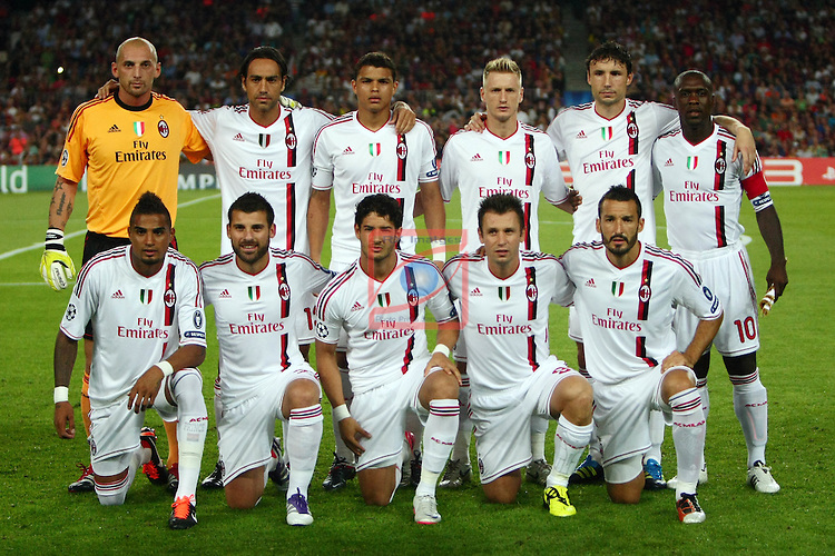 Team AC Milan. FC Barcelona vs AC Milan: 2-2 (UEFA Champions League - Season 1).