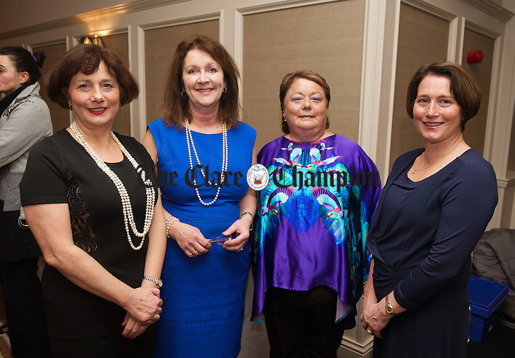 Catherine Duffy, Deirdre O Donnell, Clinical Psychologist, Mary Jo Duffy and Annette Duffy at the annual Mary Jo Duffy Pharmacy Customer Night in the Temple gate Hotel. Photograph by John Kelly.
