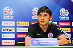 Officials, coaches and players of BURIRAM UNITED (THA) at the pre-match conference on 04 April 2016, one day before the 2016 AFC Champions League Group F Match Day 4 match between BURIRAM UNITED (THA) vs SANFRECCE HIROSHIMA (JPN) in Buriram, Thailand.