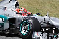 BARCELONA, ESPANHA, 12 DE MAIO DE 2012 - GP DA CATALUNHA -  O piloto Michael Schumacher da equipe Mercedes GP durante o treino classificatorio do GP da Catalunha, neste sabado. (FOTO: PIXA / BRAZIL PHOTO PRESS).