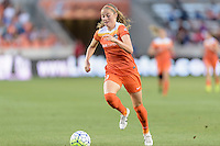 Janine Beckie (11) of the Houston Dash races down the field with the ball against the Orlando Pride on Friday, May 20, 2016 at BBVA Compass Stadium in Houston Texas. The Orlando Pride defeated the Houston Dash 1-0.