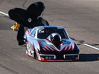 Feb 27, 2016; Chandler, AZ, USA; NHRA top sportsman driver Doug Crumlich during qualifying for the Carquest Nationals at Wild Horse Pass Motorsports Park. Mandatory Credit: Mark J. Rebilas-