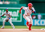 1 August 2018: Washington Nationals infielder Wilmer Difo on the basepath during the 7th inning against the New York Mets at Nationals Park in Washington, DC. The Nationals defeated the Mets 5-3 to sweep the 2-game weekday series. Mandatory Credit: Ed Wolfstein Photo *** RAW (NEF) Image File Available ***