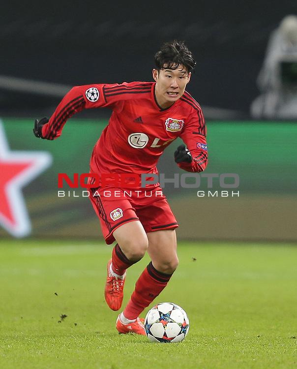 25.02.2015, Bay-Arena, Leverkusen, Championsleague, Bayer 04 Leverkusen vs. Atletico Madrid<br /> Heung-Min Son (Leverkusen)<br /> Foto &copy; nordphoto /  Bratic