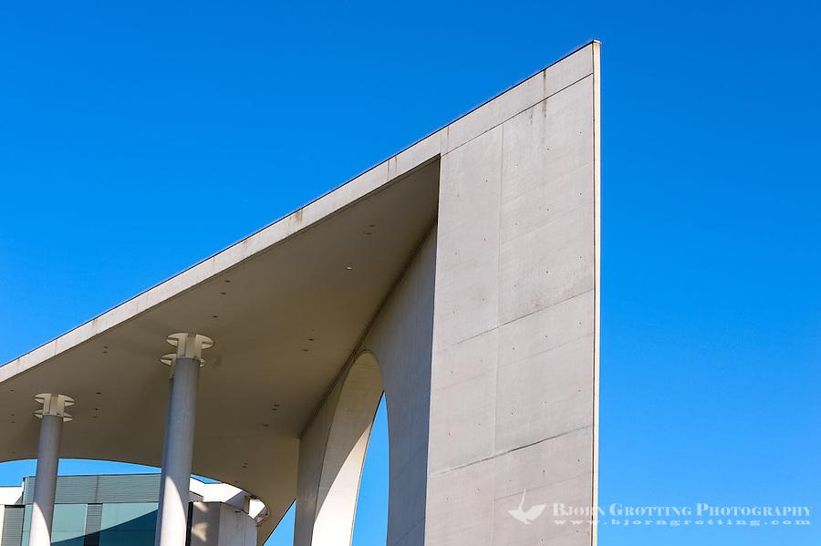 Berlin, Germany. The new and modern Chancellery building, Bundeskanzleramt Berlin. Opened in 2001.
