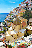 The cathedral of Santa Astuna, Positano, Amalfi coast, Italy