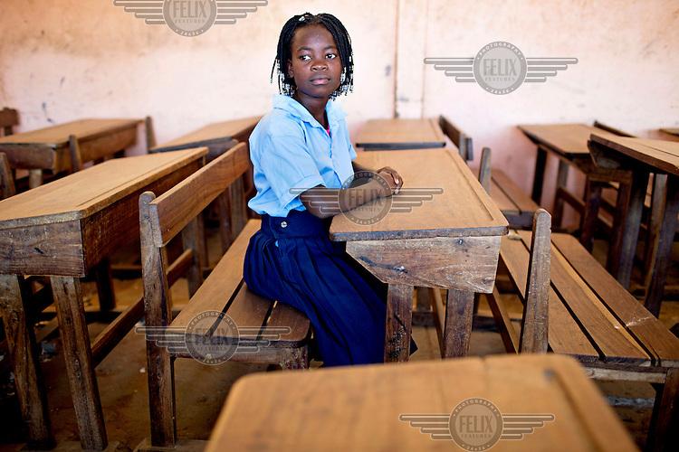 Luria Judite Nguenha (12) a Grade seven scholar at Maguiguana Primary School.