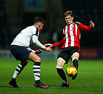 Stephen Mallon of Sheffield United under 18's in action during the FA Youth Cup 3rd Round match at Deepdale Stadium, Preston. Picture date: November 30th, 2016. Pic Matt McNulty/Sportimage