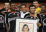 20 Octoboer 2007: Marco Etcheverry poses with former teammates after the game. From left: Brian Kamler, Carlos Llamosa, John Harkes, Marco Etcheverry, Mark Simpson, Judah Cooks. The 1997 DC United team defeated Hollywood United 2-1 in the Marco Etcheverry tribute match played before a regular season MLS game at RFK Stadium in Washington, DC.