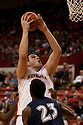 01 December 2010: Nebraska center Andre Almeida (32) puts up the short jumper against the Jackson State Tigers at the Devaney Sports Center in Lincoln, Nebraska. Nebraska defeated Jackson State 76 to 57.