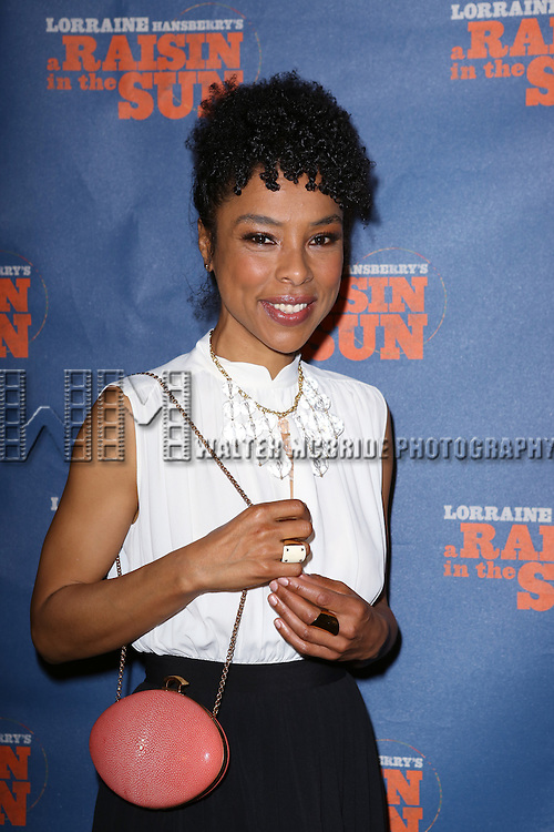 "Sophie Okonedo attends the Broadway Opening Night After Party for  ""A Raisin In The Sun"" at Tribeca Rooftop on April 3, 2014 in New York City."