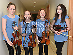 Aine Judge, Meadhbh Campbell, Sarah Fox and Aoibhe Dermody at the Comhaltas Trad na Samhna show held in the Barbican Centre. Photo:Colin Bell/pressphotos.ie