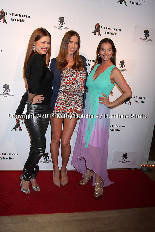 LOS ANGELES - MAR 31:  Anna Trebunskaya, Edyta Sliwinska, Elena Grinenko at the LA Ballroom Studio Grand Opening at LA Dance Studio on March 31, 2014 in Sherman Oaks, CA