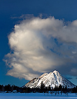 Along side Mount Shasta are several smaller lava domes.
