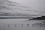 Fog shrouded inlet, Skagway, Alaska