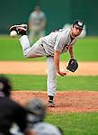25 July 2010: Tri-City ValleyCats pitcher Jason Chowning on the mound in relief against the Vermont Lake Monsters at Centennial Field in Burlington, Vermont. The ValleyCats came from behind to defeat the Lake Monsters 10-8 in NY Penn League action. Mandatory Credit: Ed Wolfstein Photo