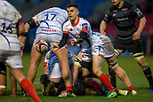 3rd February 2019, AJ Bell Stadium, Salford, England; Premiership Rugby Cup, Sale Sharks versus Newcastle Falcons; Matt Sturgess of Sale Sharks clears the ball