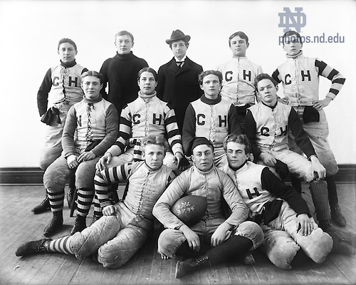 GGPN 15/03:  Carroll Hall Interhall Football Team, 1894.  Image from the University of Notre Dame Archives.