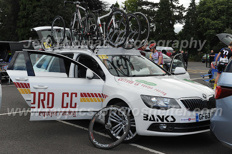"""Spare cycles on the team car during the Abergavenny Festival of Cycling """"Grand Prix of Wales"""" race on Sunday 17th 2016<br /> <br /> <br /> Jeff Thomas Photography -  www.jaypics.photoshelter.com - <br /> e-mail swansea1001@hotmail.co.uk -<br /> Mob: 07837 386244 -"""