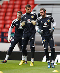 Allan McGregor with David Marshall ant Matt Gilks