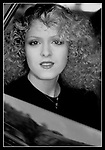 Bernadette Peters on October 1, 1981 in a Taxi on Fifth Avenue in New York City.