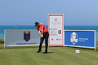 James Morrison (ENG) on the 8th tee during Round 1 of the Rocco Forte Sicilian Open 2018 on Thursday 5th May 2018.<br /> Picture:  Thos Caffrey / www.golffile.ie<br /> <br /> All photo usage must carry mandatory copyright credit (&copy; Golffile | Thos Caffrey)