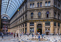 Travel Art Print Photograph of the Galleria Umberto I In the City of Naples. The street is covered by an arching glass and cast iron roof, a popular design for 19th-century arcades.<br /> This photograph captures the look and feel of this amazing building in the heart of Naples.