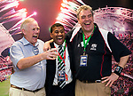 Waisale Serevi celebrates after being inducted into the IRB Hall of Fame on Day 2 of the Cathay Pacific / HSBC Hong Kong Sevens 2013 on 23 March 2013 at Hong Kong Stadium, Hong Kong. Photo by Andy Jones / The Power of Sport Images