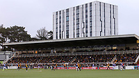 A crowd of 3560 is a record attendance for a competitive match at 'The Gallagher Stadium' during Maidstone United vs Oldham Athletic, Emirates FA Cup Football at the Gallagher Stadium on 1st December 2018