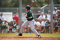 Michigan State Spartans center fielder Brandon Hughes (33) at bat during a game against the Illinois State Redbirds on March 8, 2016 at North Charlotte Regional Park in Port Charlotte, Florida.  Michigan State defeated Illinois State 15-0.  (Mike Janes/Four Seam Images)