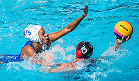 GARIBOTTI Arianna ITA, ROBINSON Christine CAN<br /> ITA (white cap) -  CAN (blue cap)<br /> Water Polo<br /> Day03  16/07/2017 <br /> XVII FINA World Championships Aquatics<br /> Alfred Hajos Complex Margaret Island  <br /> Budapest Hungary July 15th - 30th 2017 <br /> Photo @ Deepbluemedia/Insidefoto