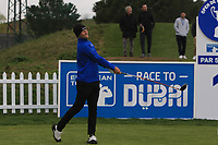 Henric Sturehed (SWE) on the 1st tee during Round 1 of the Open de Espana 2018 at Centro Nacional de Golf on Thursday 12th April 2018.<br /> Picture:  Thos Caffrey / www.golffile.ie<br /> <br /> All photo usage must carry mandatory copyright credit (&copy; Golffile | Thos Caffrey)