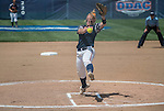 30 MAY 2016: Alaina Kissinger (23) of University of Texas-Tyler delivers a pitch during the Division III Women's Softball Championship is held at the James I Moyer Sports Complex in Salem, VA.  University of Texas-Tyler defeated Messiah College 7-0 for the national title. Don Petersen/NCAA Photos
