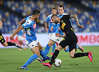 13th June 2020; Stadio San Paolo, Naples, Campania, Italy; Coppa Italia Football, Napoli versus Inter Milan; Marcelo Brozovic of Inter tries to break into the Napoli box on the ball