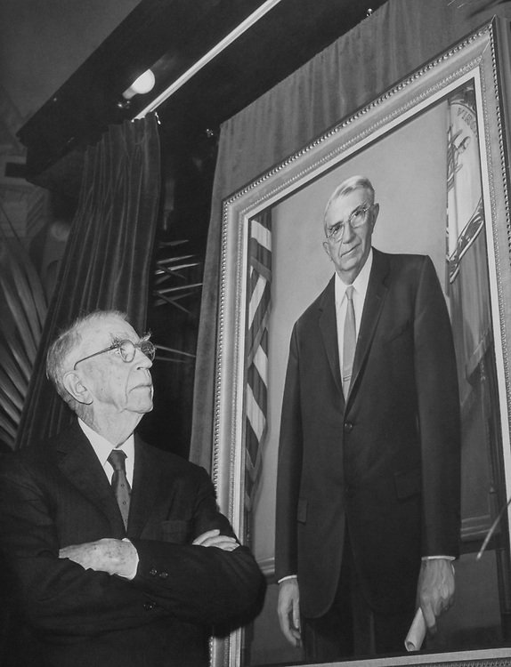 Rep. Howard W. Smith, D-Va., looking at his portrait. 1965 (Photo by CQ Roll Call)