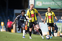 Mark Beck, Harrogate Town,  runs onto a through ball during Southend United vs Harrogate Town, Sky Bet EFL League 2 Football at Roots Hall on 12th September 2020