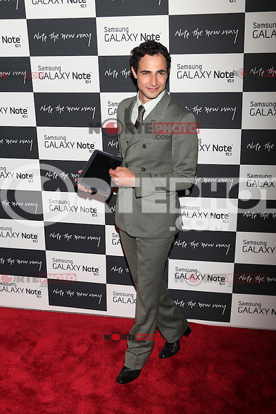Zac Posen attends the Samsung Galaxy Note 10.1 Launch Event in New York City, August 15, 2012. © Diego Corredor/MediaPunch Inc. /NortePhoto.com<br />