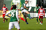 04/14/2011 - Jack Jewsbury stops the ball midfield as the Portland Timbers play FC Dallas during the Portland Timbers' second MLS home match at Jeld-Wen Field Sunday.  ..Photo by Christopher Onstott