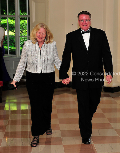 Dr. Steven L. Ullestad, Northeastern Iowa Synod, Cedar Falls, Iowa and his wife, Ruth, arrives for a State Dinner in honor of Chancellor Angela Merkel of Germany at the White House in Washington, D.C.  on Tuesday, June 7, 2011.Credit: Ron Sachs / CNP