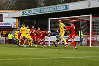 Crawley defend their goal from another Fleetwood attack during Crawley Town vs Fleetwood Town, Emirates FA Cup Football at Broadfield Stadium on 1st December 2019