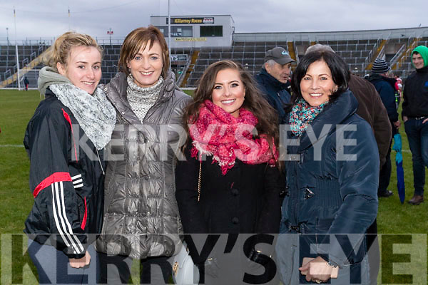 Brid Ryan Patricia Ryan Emma O'Leary and Breda O'Leary, pictured at O'Donoghue Cup Final Crokes v Rathmore, which took place on Sunday last in Fitzgerald Stadium, Killarney.