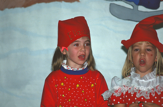 Kids at preschool Christmas Party