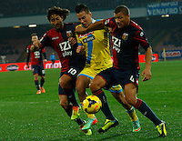 Marek Hamsik   in action during the Italian Serie A soccer match between SSC Napoli and Genoa CFC   at San Paolo stadium in Naples, Feburary 24 , 2014