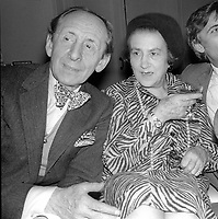 1978 <br /> New York City<br /> Vladimir Horowitz &amp; wife at Studio 54<br /> Credit: Adam Scull-PHOTOlink/MediaPunch