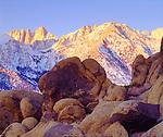 USA, California, Sierra Nevada Mountains. Mt. Whitney at Sunrise