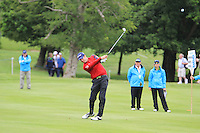 Bradley Dredge (WAL) plays his 2nd shot on the 9th hole during Day 1 Thursday of The Irish Open presented by Discover Ireland at Killarney Golf & Fishing Club on 28th July 2011 (Photo Jenny Matthews/www.golffile.ie)